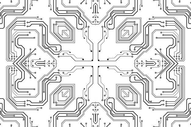 Płytka chipowa elektroniki. płytka drukowana elektroniczny model high-tech, technologia cyfrowa