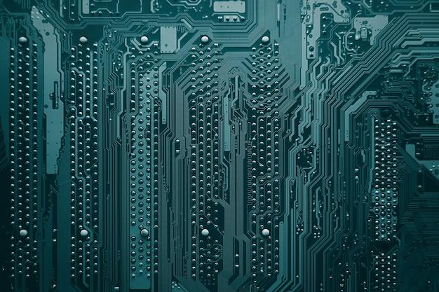 Płytka drukowana elektroniczne elementy technologii sprzętu komputerowego cyfrowe tło płyty głównej