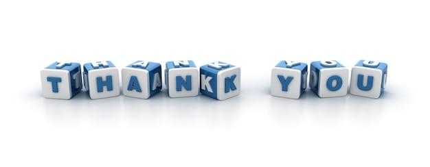 Płytki bloków słowem dziękujemy