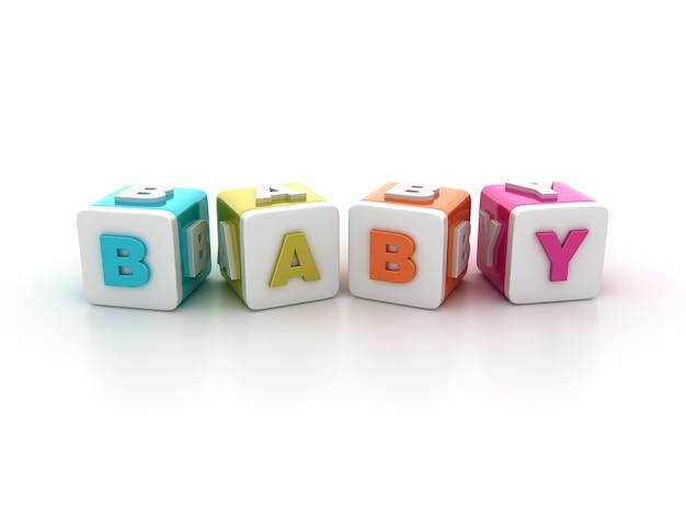 Płytki bloków z baby word