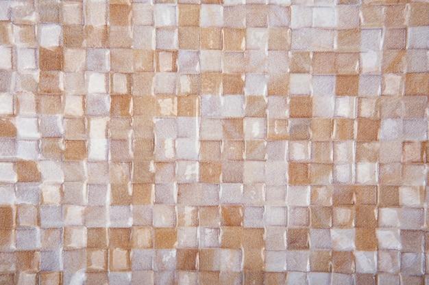 Płytki mozaikowe tekstura tło. klasyczna tekstura płytek ceramicznych do wnętrz