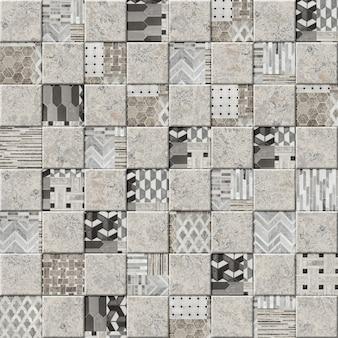 Płytki ścienne z wzorem marmuru. mozaika kamienna. element do projektowania ścian. tekstura tła tapety