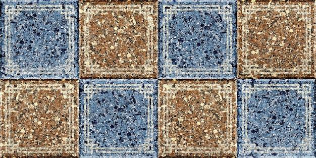 Płytki z naturalnego granitu. geometryczny wzór