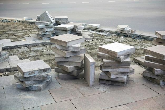 Płyty z bloczków betonowych renowacja dróg i asfaltowanie