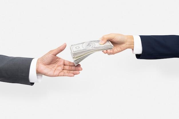 Png biznes propozycja zakupu ręce trzymające pieniądze