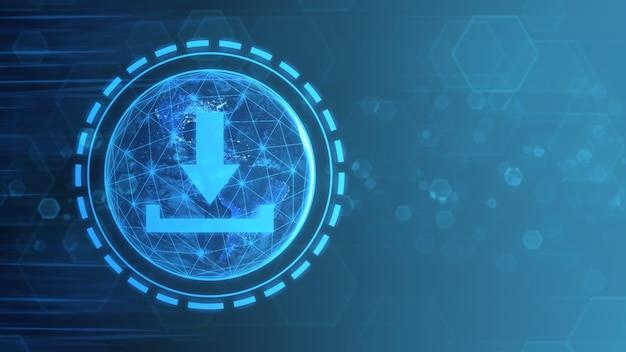 Pobierz data storage business technology network internet concept. elementy tego obrazu dostarczyła nasa.