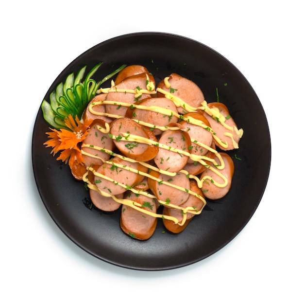 Pochigi kiełbasa wieprzowa wymieszać smażona okinawa japoński styl żywności