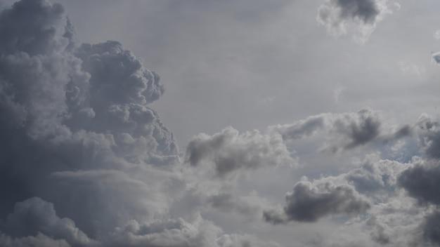 Pochmurne niebo, szare chmury, szare niebo, cloudscape
