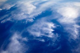 Pochmurno, chmury, niebieski, niebo