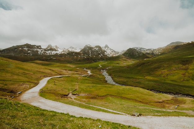 Pochmurny krajobraz pola