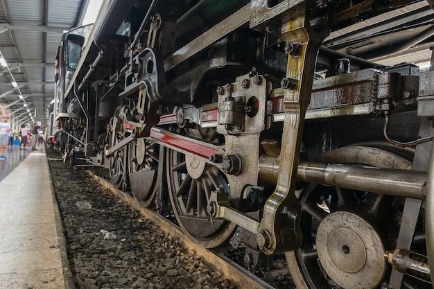 Pociąg parowy w dzień założenia pociągu 119 lat