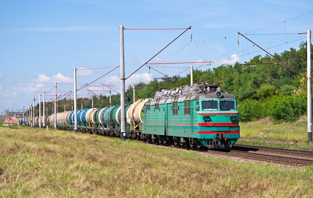 Pociąg towarowy z ropą naftową na ukrainie