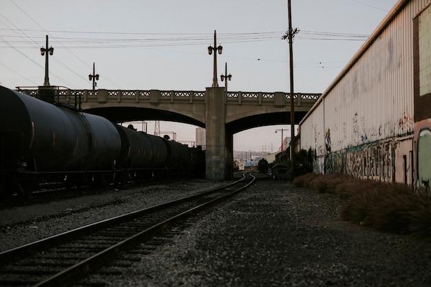 Pociągi kolejowe w los angeles w kalifornii
