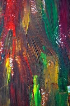 Pociągnięcia pędzlem makro wielokolorowe farby olejne. motley abstrakcyjne kreatywne tło
