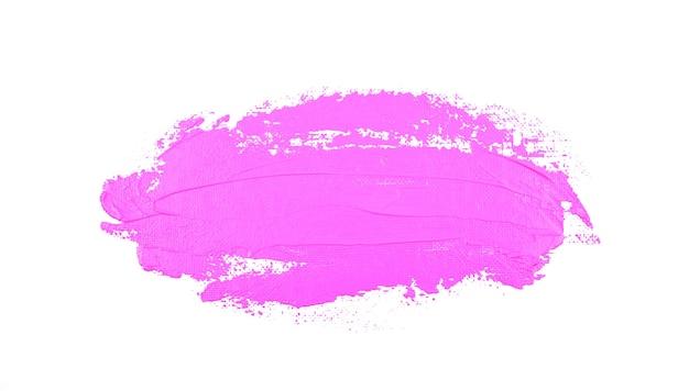 Pociągnięcie pędzla jasny miękki pastelowy fioletowy kolor na białym tle płynna abstrakcja sztuki