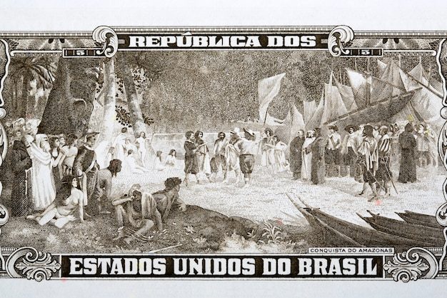 Podbój amazonii ze starych brazylijskich pieniędzy