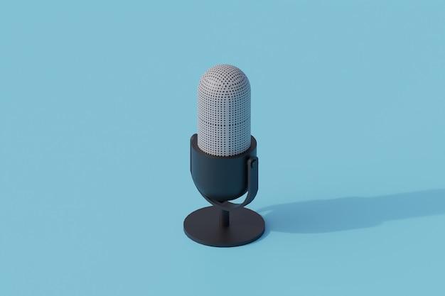 Podcast pojedynczy izolowany obiekt. 3d render ilustracji izometryczny