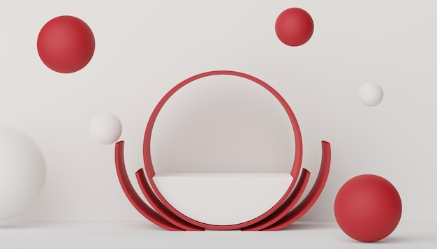 Podium 3d do lokowania produktu w stylu retro nowoczesny i współczesny