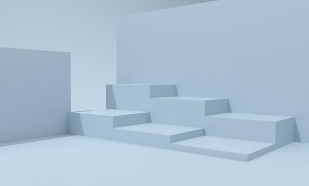 Podium design ilustracja 3d projekt schodów