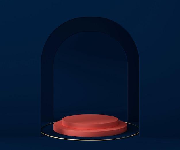Podium do prezentacji produktu. renderowania 3d z salonu lub pokoju wystawowego