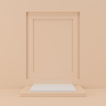 Podium geometryczny kształt produktu.