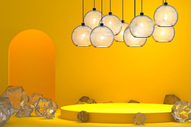 Podium minimalne abstrakcyjne tło do prezentacji produktów kosmetycznych, abstrakcyjny kształt geometryczny
