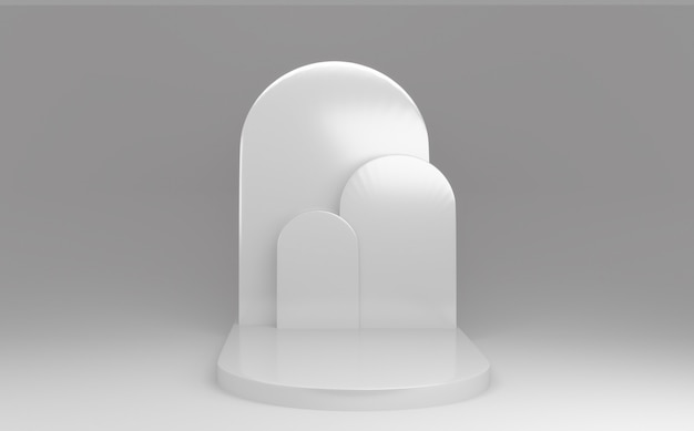 Podium minimalne białe geometryczne streszczenie