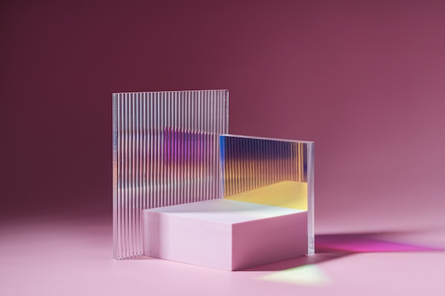 Podium o geometrycznych kształtach do wyświetlania produktu