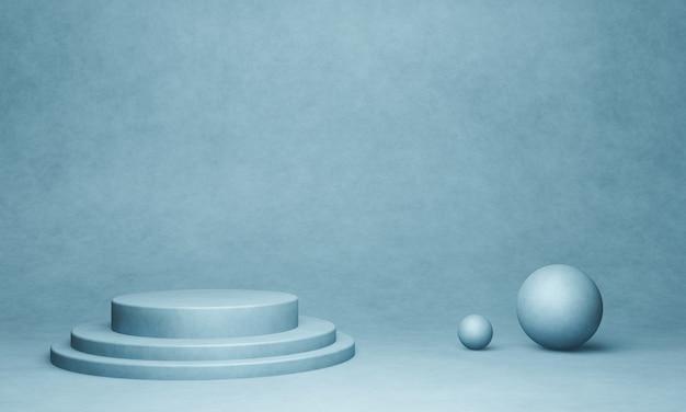 Podium Produktu Cementowego Renderowanego W 3d Premium Zdjęcia