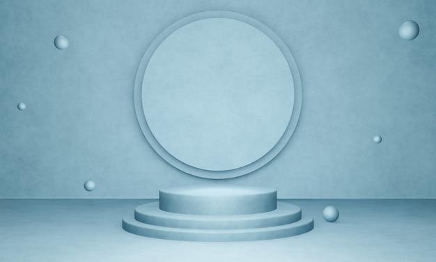 Podium produktu cementowego renderowanego w 3d