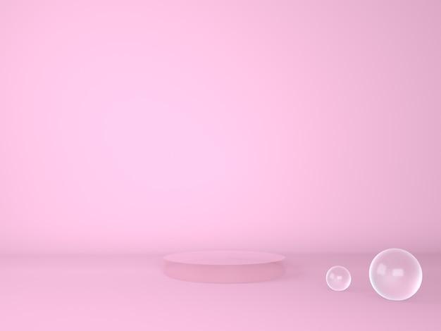 Podium produktu na pastelowym tle 3d