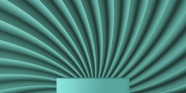 Podium przed powierzchnią zygzaka skręcone dwukolorowe abstrakcyjne tło
