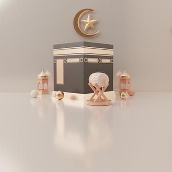 Podium renderowania 3d produktu koncepcji sprzedaży eid mubarak