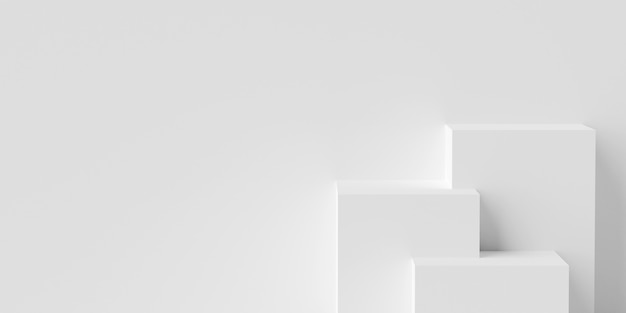 Podium w kształcie geometrycznym do reklamy produktu