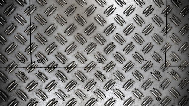 Podłoga z blachy antypoślizgowej w kolorze srebrnym