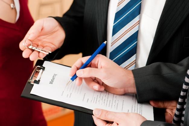Podpisanie umowy najemcy