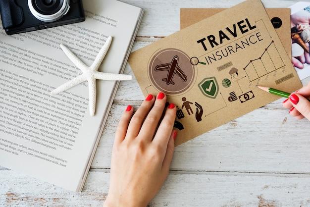 Podróż nawigacja podróż podróż wakacyjna koncepcja papieru