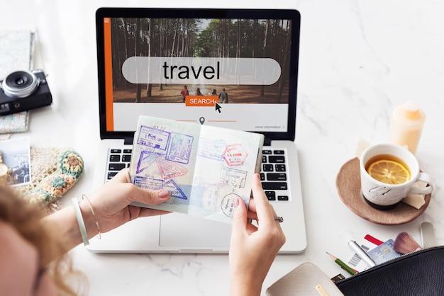 Podróż podróż eksploracja wakacje koncepcja