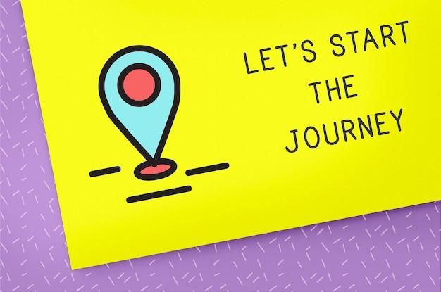 Podróż podróż podróż odkryj poznaj koncepcję