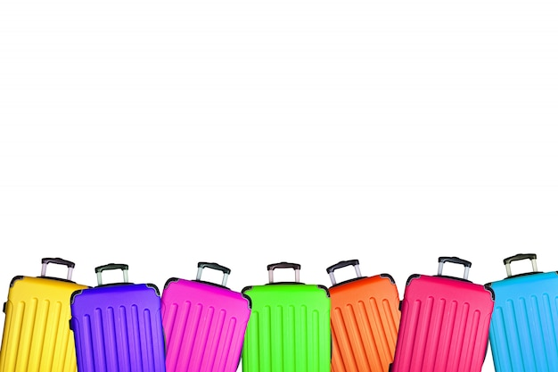 Podróżnicza walizka odizolowywająca na białym tle