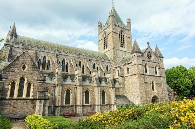 Podróżuj po irlandii. dublin, christ church cathedral