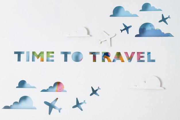 Podróżuj ponownie koncepcja aranżacji