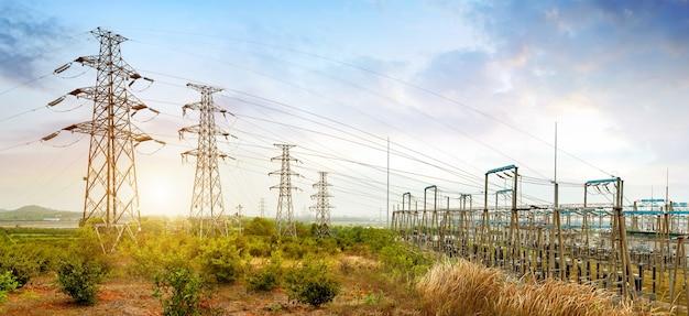 Podstacja energetyczna wysokiego napięcia