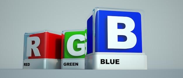 Podstawowe kolory druku czerwony zielony i niebieski