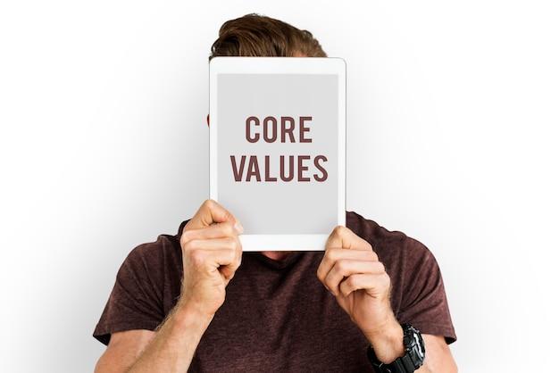 Podstawowe wartości słowo młodzi ludzie