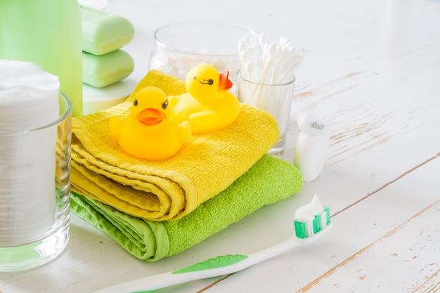 Podstawy higieny na białym tle