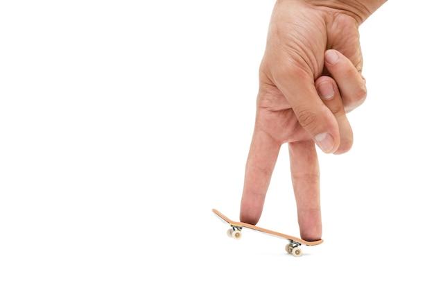 Podstrunnica - mała deskorolka dla dzieci i młodzieży do zabawy palcami dłoni.