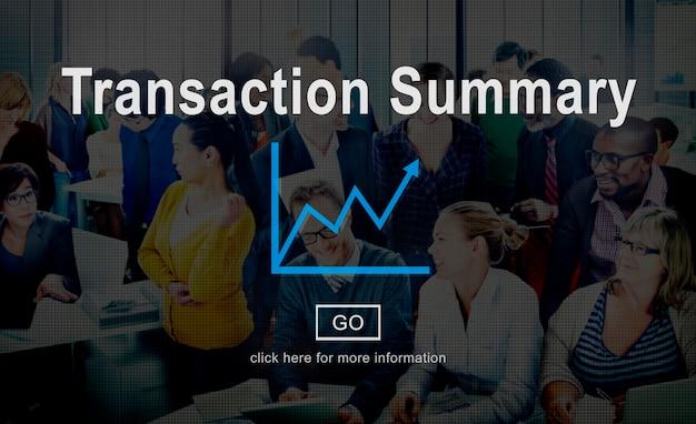 Podsumowanie transakcji rachunkowości finansowej koncepcji