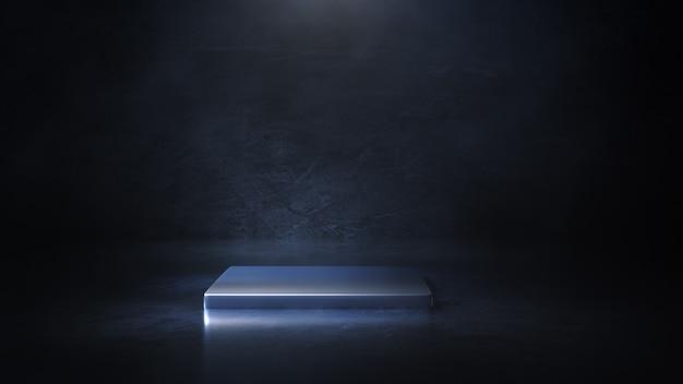 Podświetl okrągłą platformę 3d illustration