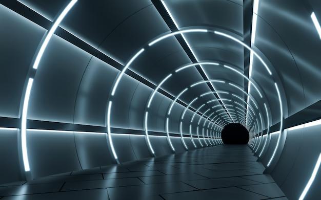 Podświetlany projekt korytarza